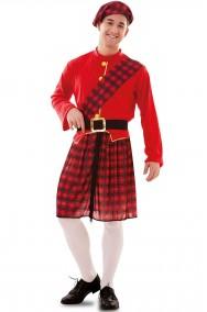 Costume scozzese celtico adulto uomo taglia unica Large
