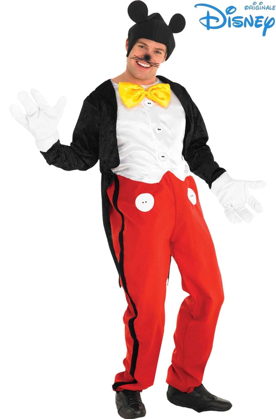 le migliori scarpe pensieri su ben noto Costume di Carnevale Topolino Mickey Mouse adulto originale Disney