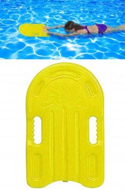 Tavola tavoletta da nuoto in plastica 45cm gialla