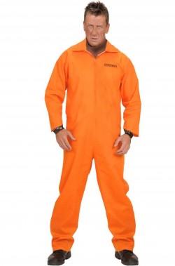 Costume da Detenuto Carcerato Americano Arancione