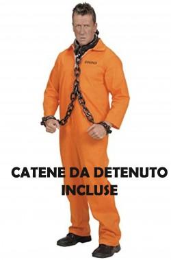 Costume da Detenuto Carcerato Arancione Con catene