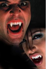 Denti Canini Vampiro o Licantropo alta qualita' Dracula Fangs DOPPIA COPPIA