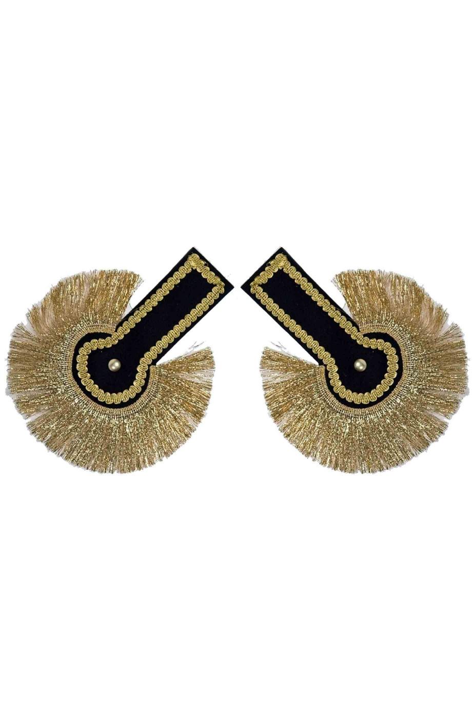 Spalline o mostrine militari nere e oro  per schiaccianoci