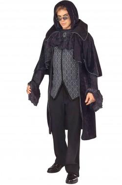 Adulto Uomo Costume da Vampiro Dracula Spaventoso Spettrali Halloween Abito Outfit