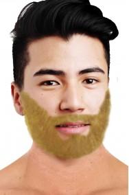 Trucco teatrale barba finta a trama sottile realistica bionda scura
