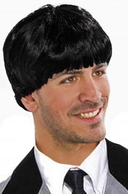 Parrucca uomo nera a caschetto da Beatles Paul