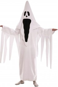 Costume halloween uomo fantasma che urla