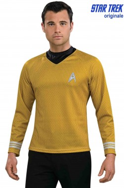 Star Trek maglia Capitano James Tiberius Kirk con stampa a nido d'ape