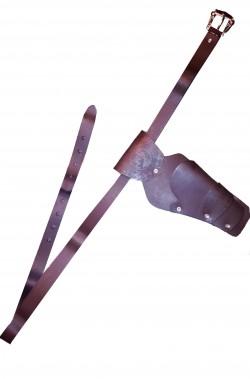 Cinturone cowboy in simil pelle una fondina