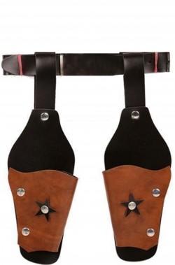 Cinturone cowboy due fondine taglia bambino in plastica