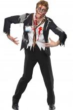 Costume Halloween uomo impiegato zombie