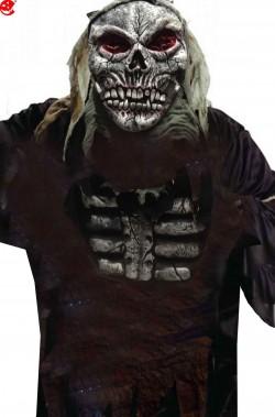 Set maschera e petto zombie