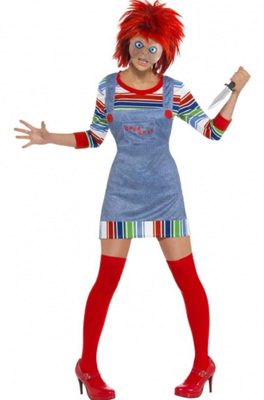 molto carino 2019 reale fashion style Costume Halloween da donna Chucky la bambola assassina