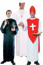 Gruppo costumi di carnevale Papa Vescovo e Prete adulto