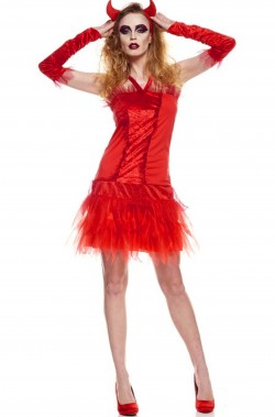 Costume Halloween Donna Diavola Diavolessa Diavoletta