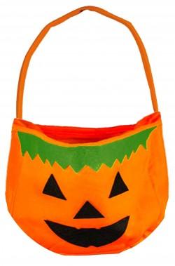 Sacchetto porta dolci Halloween a zucca in panno