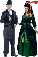 Coppia di vestiti di carnevale di alta qualita' Via Col Vento