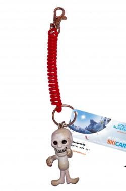 Porta skipass o portachiavi Halloween con scheletro