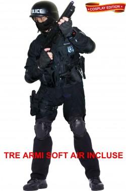 Costume cosplay uomo divisa d'assalto SWAT Los Angeles