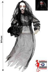 Allestimento Decorazione Halloween da appendere sposa cadavere con luci e suoni