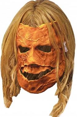 Maschera film Rob Zombie Halloween Pumpkin vinile con capelli Michael Myers