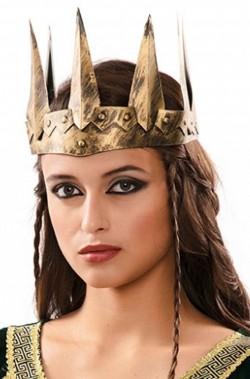 Corona da regina stile medievale a punte Grimilde o Ravenna