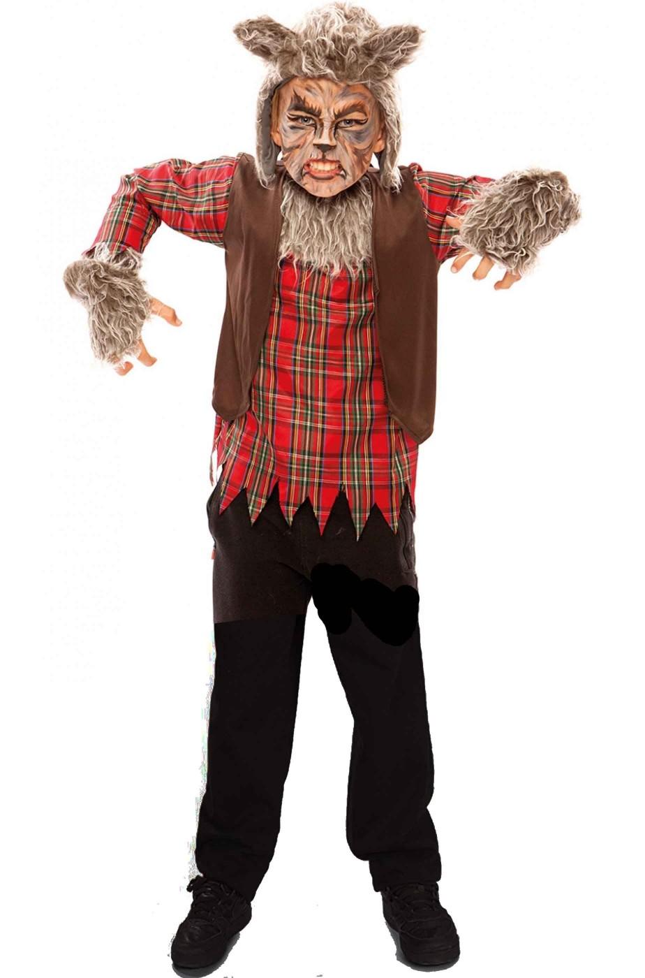 Costume Halloween da bambino da uomo lupo
