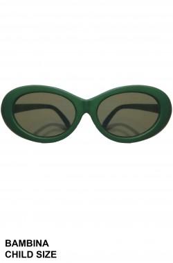Occhiali anni 50 rotondi verdi per bambina 3/6 anni