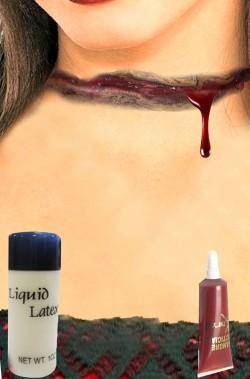 FX Trucco Halloween ferita gola tagliata in lattice
