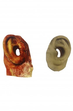 Trucco Halloween coppia di orecchie finte in lattice