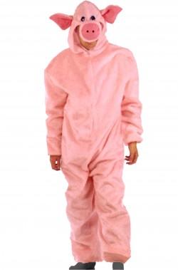 Costume uomo maiale in peluche