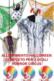 Allestimento decorazione Halloween Clown Horror pacchetto Circo dell'Orrore