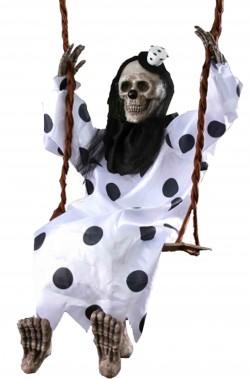 Allestimento Halloween Circo dell'Orrore clown trapezista morto