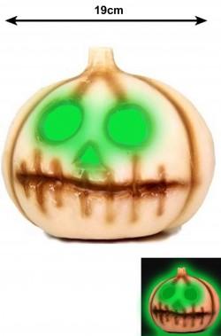 Allestimento Decorazione Halloween Zucca bocca cucita che si illumina