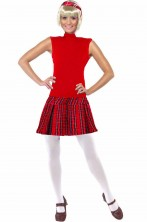 Costume da donna da scozzese abito a girocollo con tartan