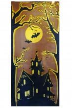Pannello per sfondo decorazioni Halloween casa stregata