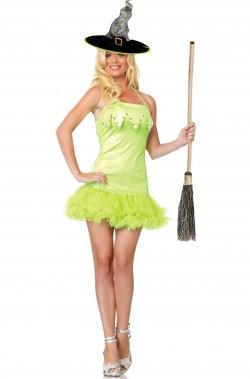 Costume Halloween donna Strega Verde Sexy