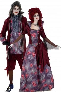 Coppia di costumi di Halloween uomo e donna vampiri 700