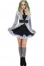 Costume Beetlejuice donna adulta