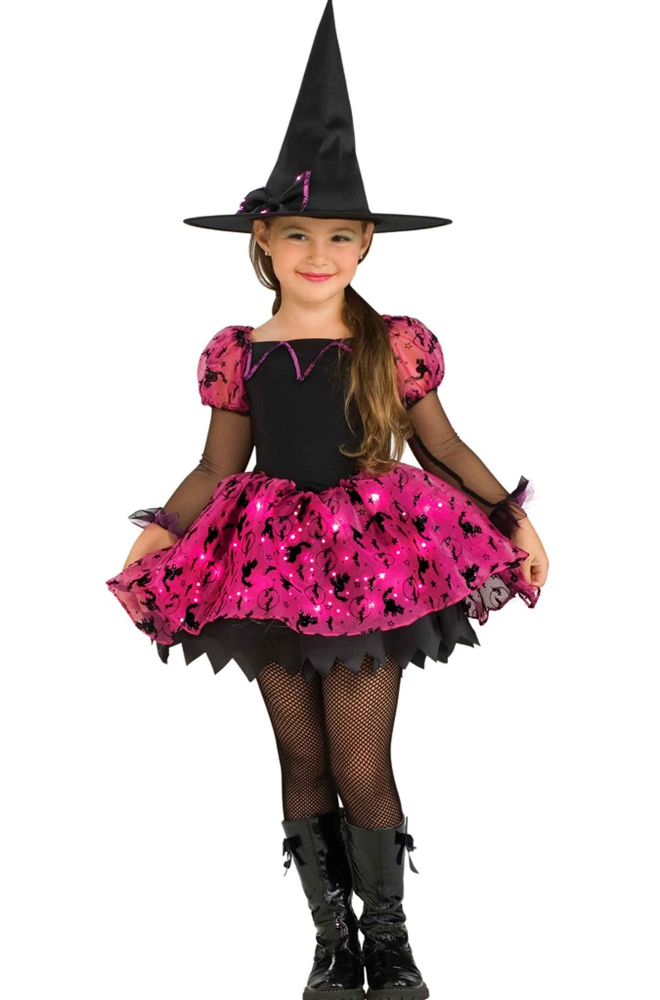 Costume carnevale Bambina Strega luminosa