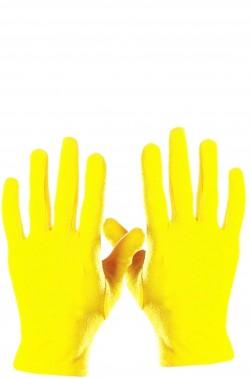 Guanti gialli corti adulto
