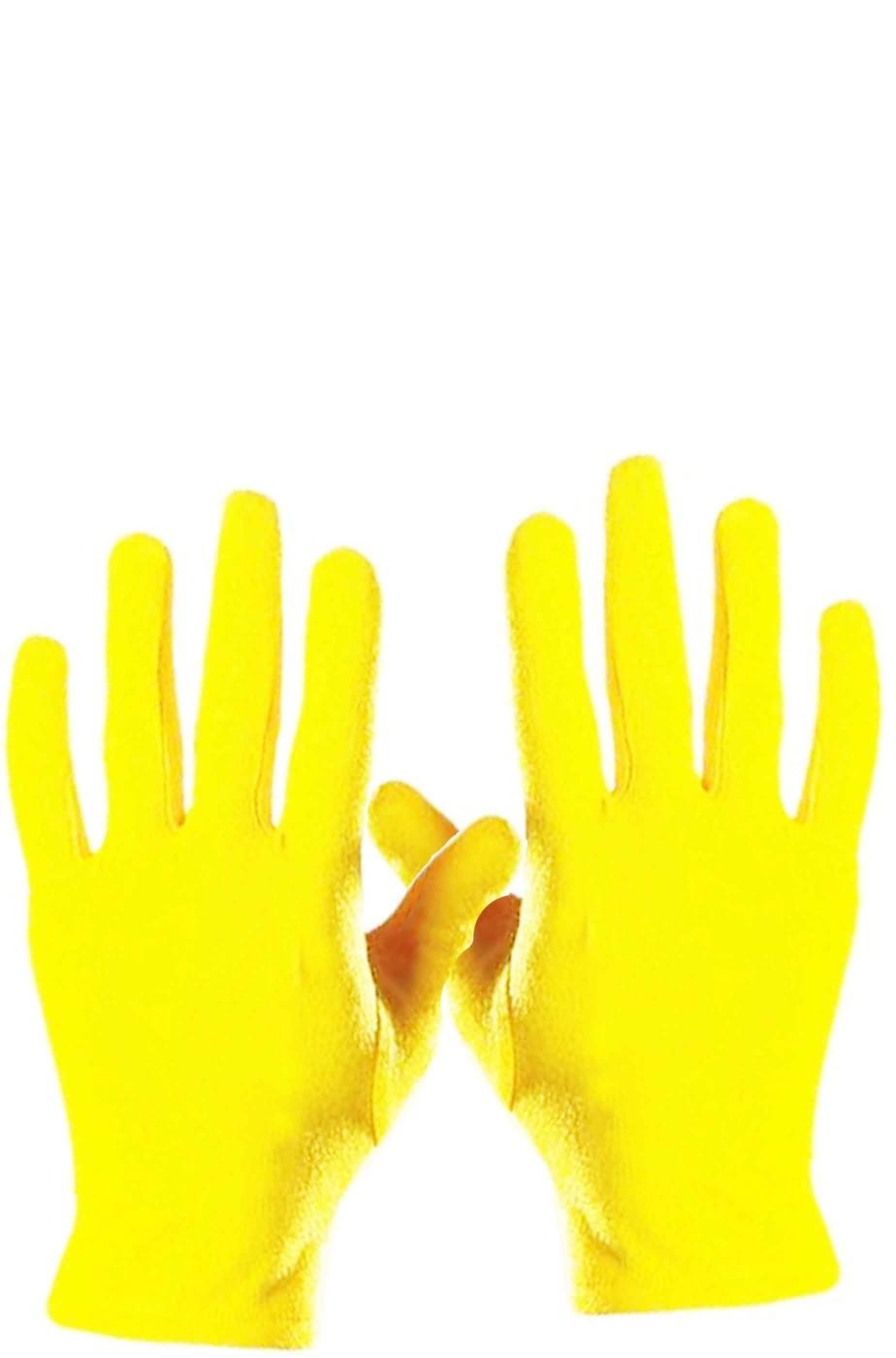 offrire gamma esclusiva varietà larghe Guanti gialli corti adulto