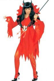 Costume Halloween Adulta Diavola Diavolessa Diavoletta