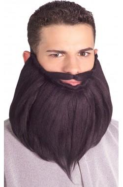 Barba e baffo 20 cm nero