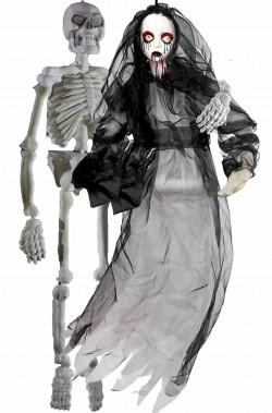 Decorazioni Halloween da appendere sposa cadavere e marito