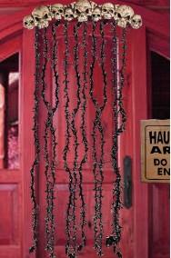 Decorazione Halloween sovraporta con Teschi e frange 3D lungo 170cm
