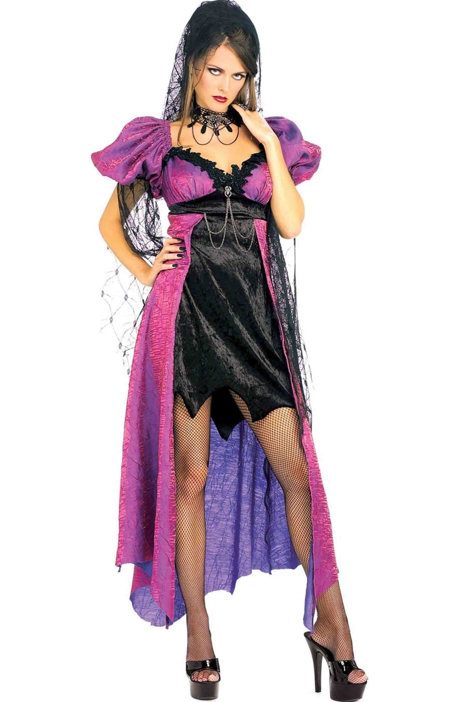 990ef034952b Costume Halloween donna principessa vampira lunga dietro corta davanti