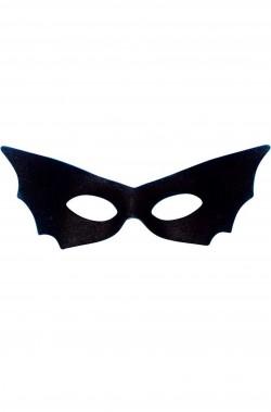 Maschera nera pipistrello in tessuto