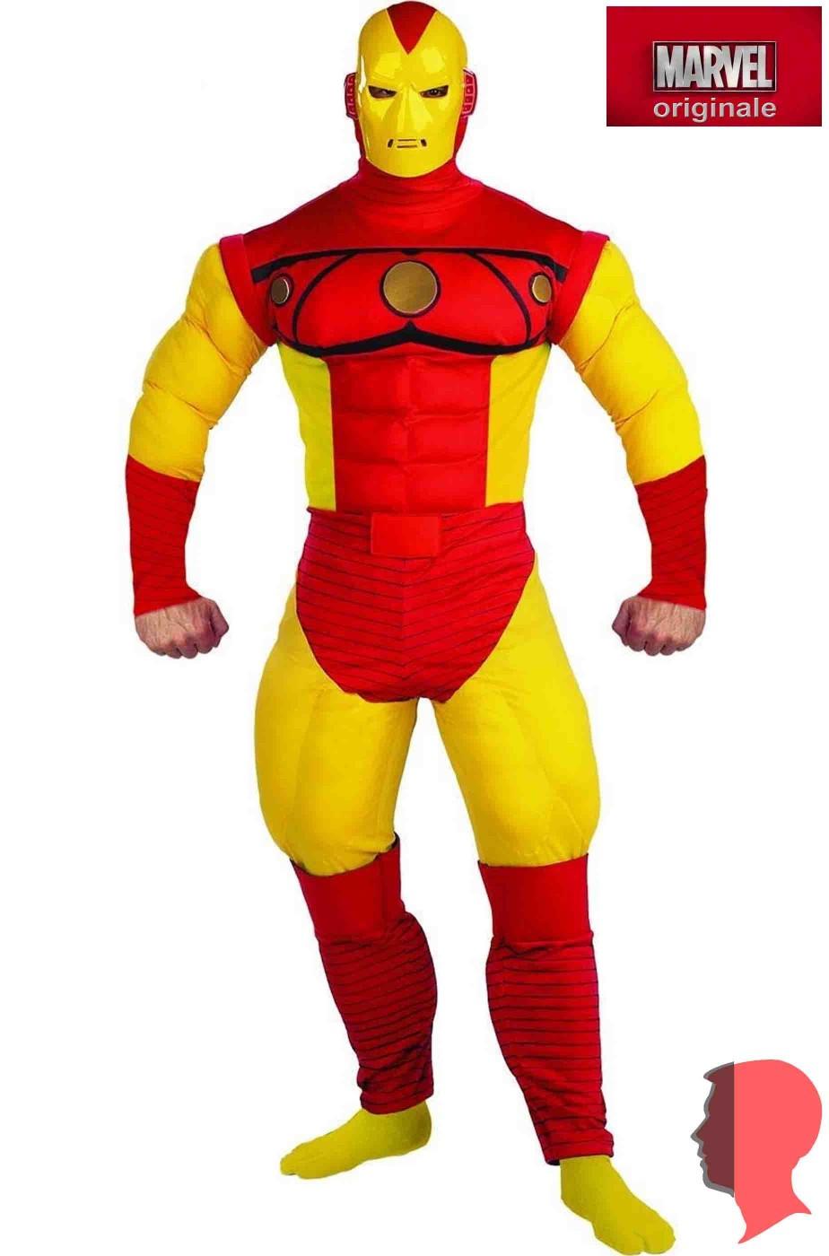 Costume Iron Man vintage comics adulto con muscoli