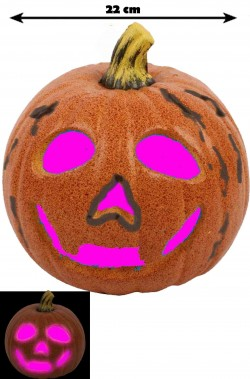 Allestimento Decorazione Halloween Zucca con luci a LED 22cm